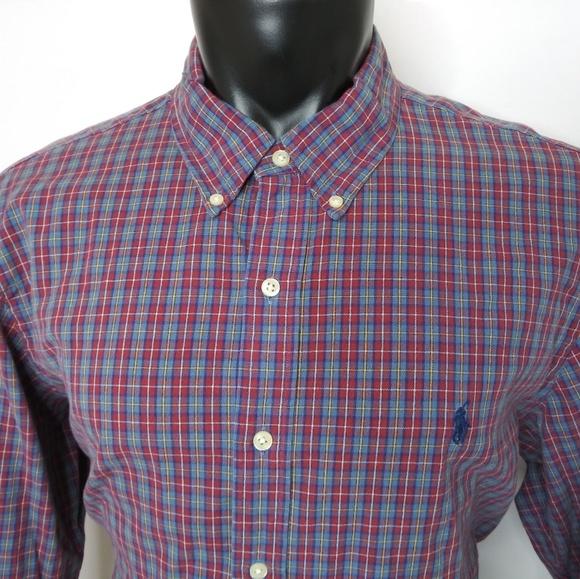 POLO Ralph Lauren Longsleeve Mens Buttondown Shirt Slim Fit PLAID